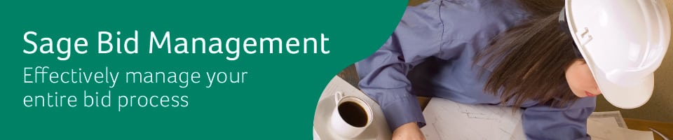 Sage Big Management: Effectively manage your entire bid process