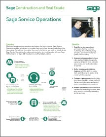 Sage Service Operations Datasheet