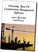 Choosing Best Fit Construction Management Software Book Cover